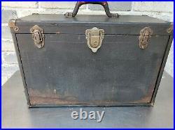 Vintage Wood 7-Drawer Machinist Chest Tool Box