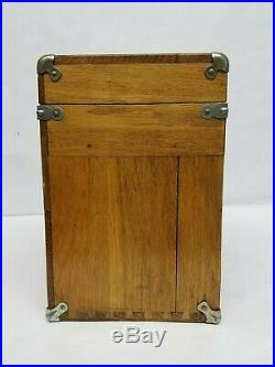 Vintage Wood H. Gerstner & Sons 7 Drawer Tool Chest Box Model 041 Free Shipping