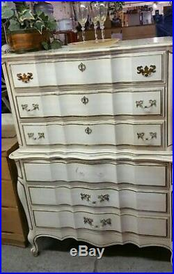 Vintage french provincial highboy dresser chest of drawers (LOCAL PICKUP)
