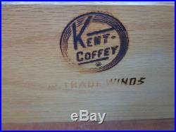 Vtg Kent Coffey Asian Tradewinds 3 Drawer Bachelors Chest Fretwork Floating Base
