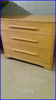 Vtg Mid Century Modern Art Deco Dresser Chest of Drawers Heywood Wakefield Style
