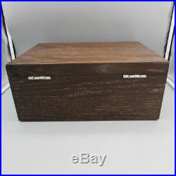 Wallace Distressed Wood Flatware Chest with Drawer & Tarnish Resistant Lining