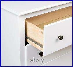 White 6 Drawer Dresser Chest Drawers Wooden Clothes Storage Bedroom Furniture