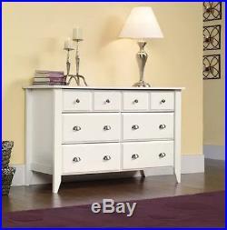 White 6 Drawer Dresser Wood Double Chest Modern Storage Furniture NEW Organizer
