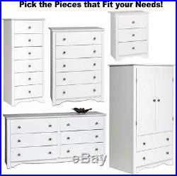 White Bedroom Furniture Armoire Dresser Drawer Nightstand Chest Dressers 3 5 6