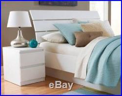 White Bedroom Furniture Dresser Drawer Nightstand 5 Chest 6 Dressers Wood Grain
