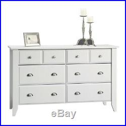 White Dresser for Kids Girls Women Bedroom 6 Drawer Dressers Chest of Drawers
