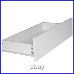 White Modern Handleless Chest of 5 Drawers Bedroom Dresser Furniture