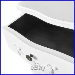 White Tallboy Chest Cabinet 5 Drawers For Bedroom Vintage Chic Furniture Design