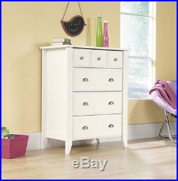 White Wood Dresser Drawer Modern Bedroom Furniture Storage Chest Drawers Armoire