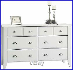 White Wooden 6 Drawer Dresser Chest of Drawers Clothes Storage Cabinet Bedroom