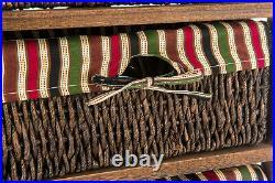 Wicker Basket Drawer Furniture Cabinet Storage Chest Hallway Cupboard Kitchen