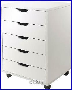Winsome Halifax Storage/Organizer 5 Drawer Rolling Cabinet Dresser Chest Closet