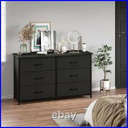 Wood Chest of Drawers 6 Drawer Dresser Bedroom Storage Cabinet Furniture black