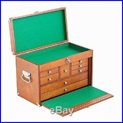 Wood Tool Box Craft Machinist Cabinet Hardware Chest Drawer Storage Carpenter