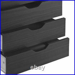 Wooden Chest Drawer Cabinet Dresser Storage Organizer Rolling Portable Furniture