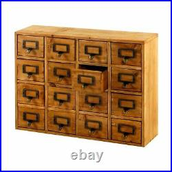 Wooden Storage Cabinet Chest 16 Drawers Handmade Shabby Chic Hand Finished Unit