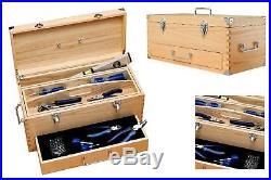 Wooden Tool Box Chest Slide Drawer Lockable Storage Cabinet Garage Portable Wood