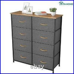 YITAHOME 8 Drawers Dresser Chest Storage Shelf Organizer for Living Room Bedroom