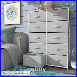 YITAHOME Chest of Storage Drawer Dresser Fabric Organizer Shelf Tower Bedroom
